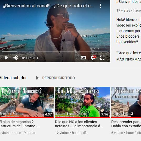 Videos y canal de youtube de Edy Bravo para Emprendedores y superación personal coaching